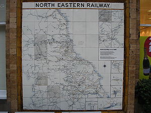 Lowthian Bell - Image: North Eastern Railway map circa 1900