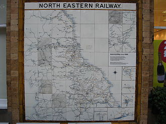 Lowthian Bell - Image: North Eastern Railway map circa 1900
