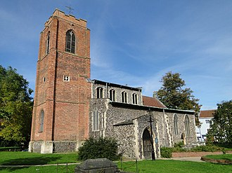 Grade I listed buildings in Norwich - Image: Norwich St Augustines church geograph.org.uk 2212159