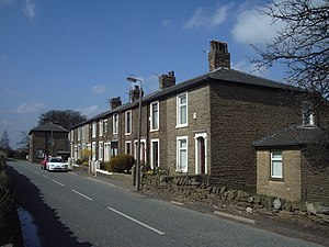 Eccleshill, Lancashire - Image: Nos 1to 9 Leonard Terrace, Waterside geograph.org.uk 158168