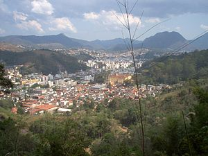 Nova Friburgo - Center of Nova Friburgo as seen from Rio de Janeiro State University