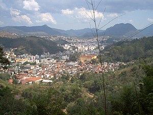aced3b0005 Nova Friburgo vista a partir do Instituto Politécnico do Rio de Janeiro da  Universidade do Estado