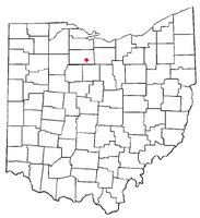 Location of Bloomville, Ohio