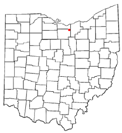 Location of Wakeman, Ohio