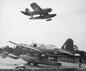 703 Naval Air Squadron - Two Royal Australian Air Force Vought Kingfisher aircraft in 1942