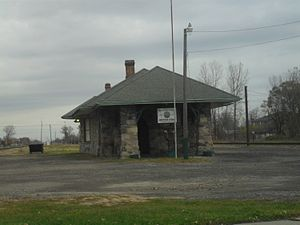 Wyandotte, Michigan - The Oak Street union depot served as the city's passenger rail station from 1891 to 1959.