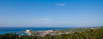 Ocho Rios - View of Ocho Rios, taken from Shaw Park Gardens – 2010