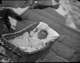"Battleship Potemkin - A baby in a carriage falling down the ""Odessa Steps"""