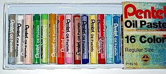 Oil pastel - Oil pastel sticks in a box