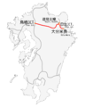 Oita Express way map.png