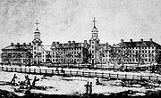 Old Brick Row in 1807
