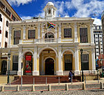 This building stands as a proud example of eighteenth century architecture and symbolises the development of local government in Cape Town. When free colonists were created the Company granted them representation in the Council of Justice. Type of site: Town Hall.