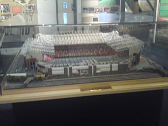 Old Trafford - Peter Oldfield-Edwards' scale model of Old Trafford on display in the club museum in March 2010