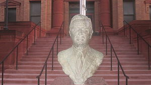 Omar Burleson - Statue of Omar Burleson at Jones County Courthouse in Anson, Texas