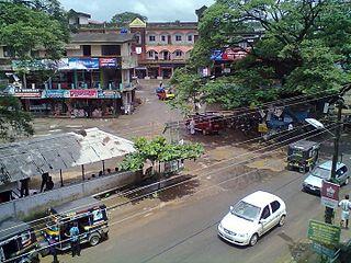 Omassery Town in Kerala, India