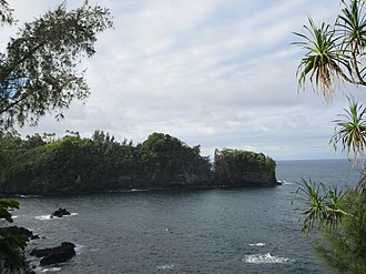 Papaikou, Hawaii - View of Onomea Bay from the scenic route through Papaikou and Pepeekeo