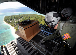 Federated States of Micronesia - The US airforce has dropped presents and humanitarian aid to the islands every Christmas since 1952.