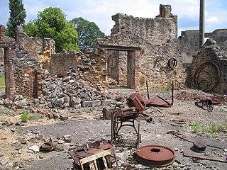 Oradour-sur-Glane massacre 642 French civilians massacred by a German Waffen-SS company in 1944