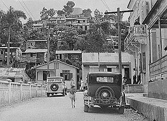 Orocovis, Puerto Rico - Near the main plaza, 1941