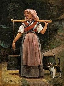 Otto Bache, En malkepige, 1876, 0071NMK, Niaagaards Malerisamling.jpg