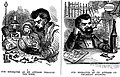 Our engraver as he appears through the week and on Thursday evening by Samuel Calvert (1855).jpg