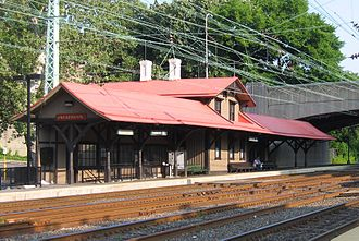 Overbrook station - Overbrook station in July 2005