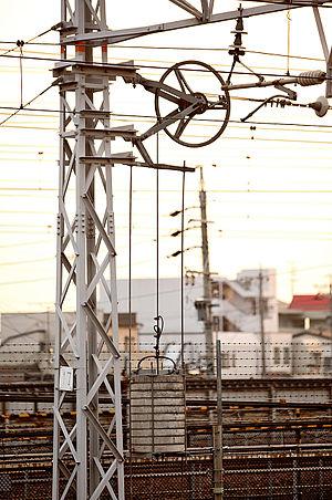 Tensioner - Image: Overhead line tensioner 003
