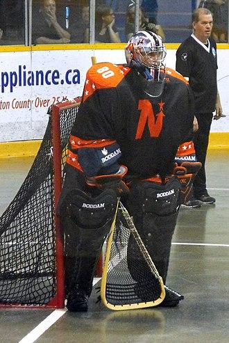 OLA Senior B Lacrosse League - Owen Sound NorthStars' Scott Komer in 2014.