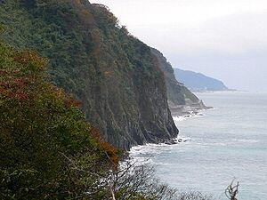 Niigata Prefecture - Ten-Ken cliff of Oya-Shirazu, Niigata