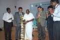 P. Radhakrishnan lighting the lamp to inaugurate the Estuary '15 – Two Day National Seminar & Intercollegiate Management Fest, organised by the Indian Maritime University, in Chennai. The Chennai Port Trust Chairman.jpg