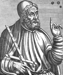 An early Baroque artist's rendition of Claudius Ptolemaeus