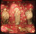 Paesi bassi del nord, forse utrecht, coperta di cuscino, 1490 ca. 01.jpg