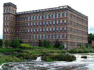 Paisley, Renfrewshire - The Anchor Mills (1886) – a remnant of Paisley's Victorian industrial heritage.