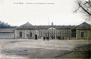 "Henri-Joseph Paixhans - The ""Paixhans"" barracks in Le Mans, France."