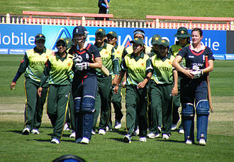 Pakistan women's national cricket team - Pakistan Women's team during the icc T20 world cup