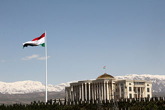 Dushanbe - Image: Palace of Nations and the Flagpole, Dushanbe, Tajikistan