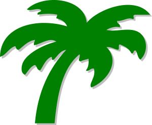 A symbol depicting a palm tree.