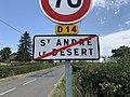 Panneau sortie St André Désert 1.jpg