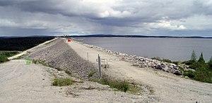 Caniapiscau Reservoir - Image: Pano Caniapiscau Reservoir