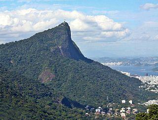 Corcovado Mountain in central Rio de Janeiro, Brazil