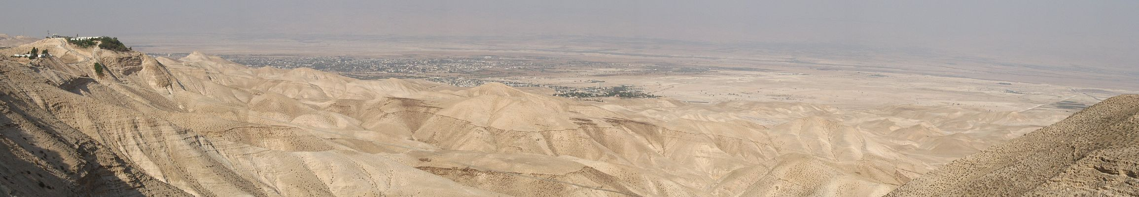 A panoramic view of Jericho as viewed from Mitzpe Yericho.