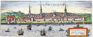 Panorama of Riga, 1572