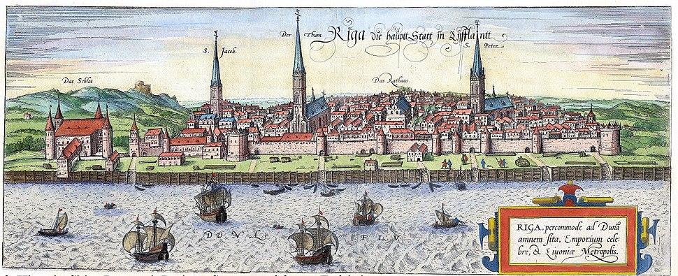 Panorama of Riga, 1572
