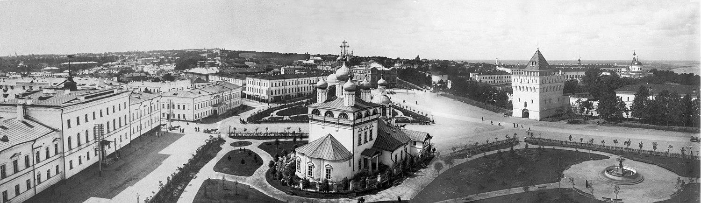 Панорама Благовещенской площади и окрестностей. М. П. Дмитриев