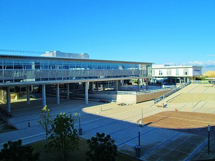 Section of the modern buildings of the University of Cyprus (UCY) Panoramic view University of Cyprus Nicosia Republic of Cyprus.jpg