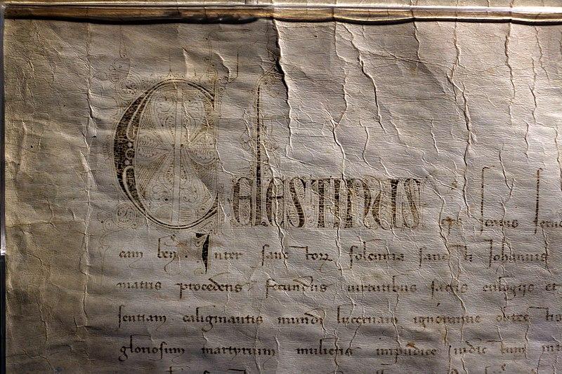File:Papa celestino V, bolla del perdono, 29 novembre 1294 (comune dell'aquila) 02.JPG