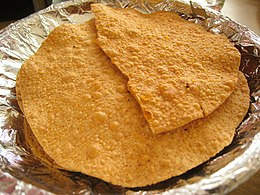 Papadum in Bangalore, India