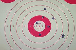 Shooting target - Image: Paper Target