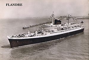 SS Flandre (1952) - Flandre at sea.