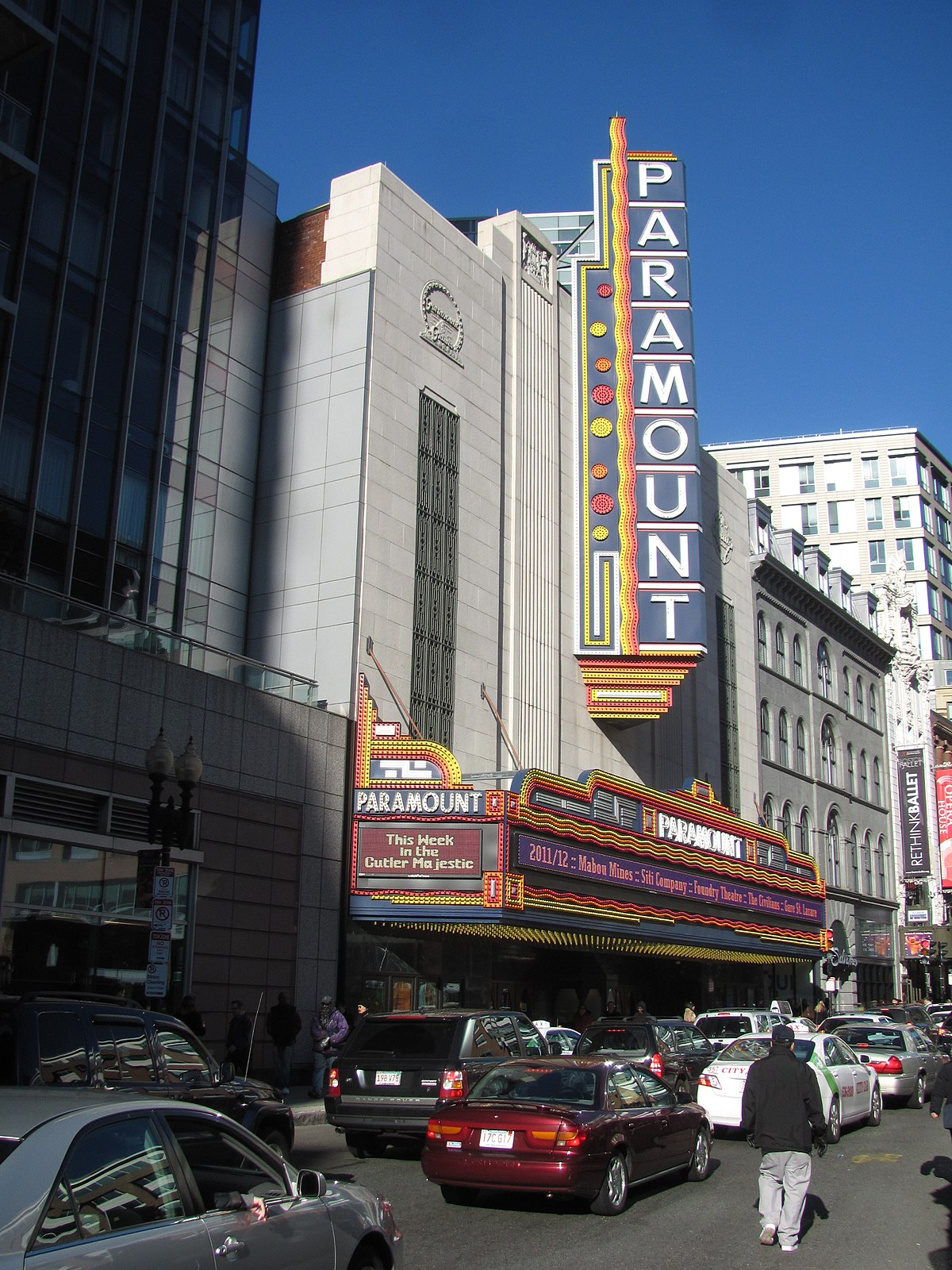 Paramount Theatre Boston Massachusetts Wikipedia